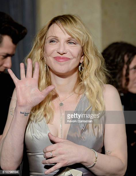 Recording artist Courtney Love attends the 2016 PreGRAMMY Gala and Salute to Industry Icons honoring Irving Azoff at The Beverly Hilton Hotel on...
