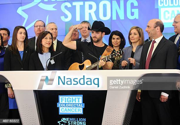 Recording Artist Craig Campbell attends Fight Colorectal Cancer Rings The NASDAQ Closing Bell at NASDAQ MarketSite on March 3 2015 in New York City