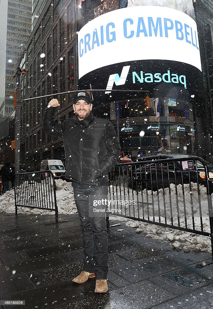 Recording Artist Craig Campbell attends Fight Colorectal Cancer Rings The NASDAQ Closing Bell at NASDAQ MarketSite on March 3, 2015 in New York City.