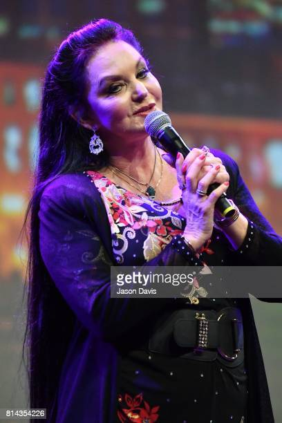 Recording Artist Crystal Gayle performs during the American Eagle Awards Honoring Crystal Gayle Patti Smith and Harry Shearer at Music City Center on...
