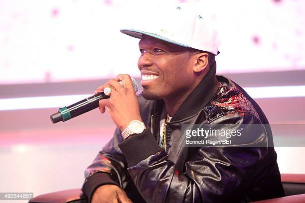 Recording artist Curtis '50 Cent' Jackson visits 106 Park at BET studio on May 19 2014 in New York City