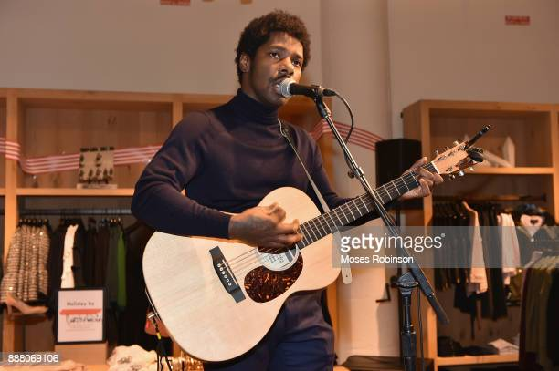 Recording Artist Curtis Harding performs at JCrew Holiday by You Event on December 7 2017 in Atlanta Georgia