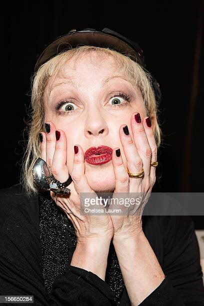 Recording artist Cyndi Lauper attends LPB Group presents day 2 of the official AMA gift lounge at Nokia Theatre LA Live on November 17 2012 in Los...