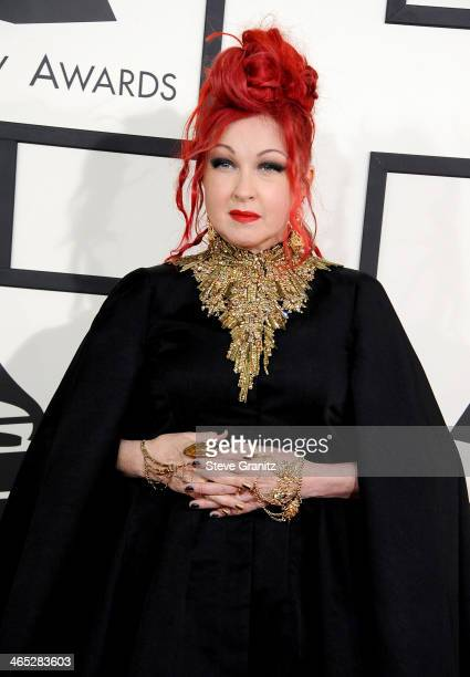 Recording artist Cyndi Lauper attends the 56th GRAMMY Awards at Staples Center on January 26 2014 in Los Angeles California