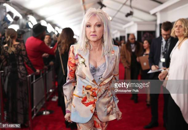 Recording artist Cyndi Lauper attends the 60th Annual GRAMMY Awards at Madison Square Garden on January 28 2018 in New York City