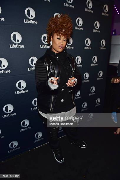 Recording artist Da Brat attends Lifetime premiere of The Rap Game at Suite Lounge Rooftop on January 1 2016 in Atlanta Georgia