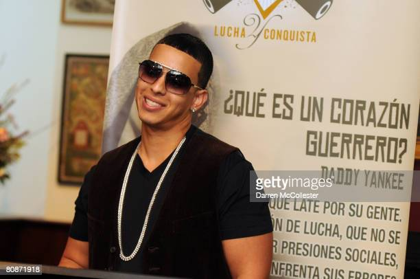 Recording Artist Daddy Yankee is honored by is honored by Presencia Latina at Harvard University April 26 2008 in Cambridge Massachusetts Yankee...