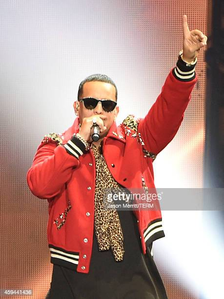 Recording artist Daddy Yankee performs onstage during the iHeartRadio Fiesta Latina festival presented by Sprint at The Forum on November 22 2014 in...