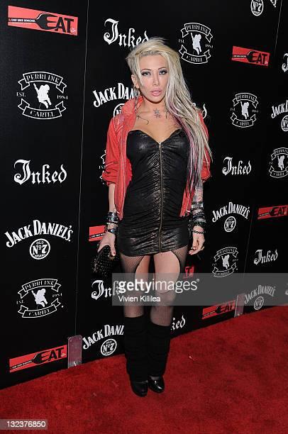 Recording artist Daisy de la Hoya attends the PERRI INK Cartel Store Opening on November 11 2011 in Los Angeles California