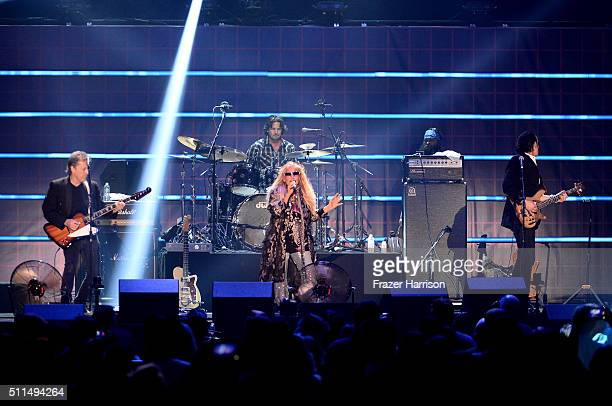 Recording artist Dale Bozzio and Missing Persons perform onstage during the first ever iHeart80s Party at The Forum on February 20 2016 in Inglewood...