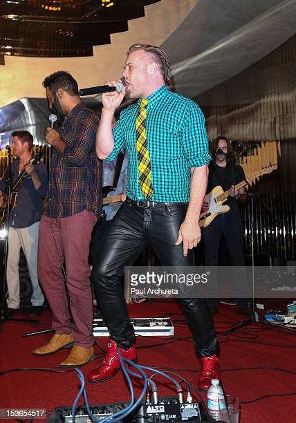 Recording Artist Daniel Bedingfield performs at his EP launch party at The Living Room at The W Hotel on October 7 2012 in Los Angeles California