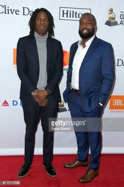 Recording artist Daniel Caesar and guest attend the Clive Davis and Recording Academy PreGRAMMY Gala and GRAMMY Salute to Industry Icons Honoring...