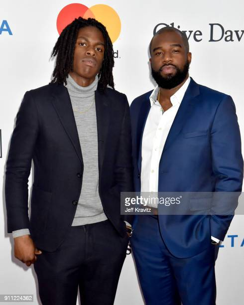 Recording Artist Daniel Caesar and producer Matthew Burnett attend the Clive Davis and Recording Academy PreGRAMMY Gala and GRAMMY Salute to Industry...
