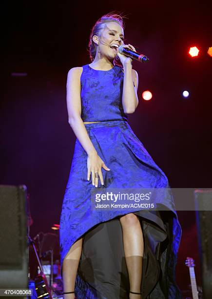 Recording artist Danielle Bradbery performs onstage during the 50th Academy of Country Music Awards All Star Jam at ATT Stadium on April 19 2015 in...