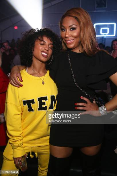 Recording artist DaniLeigh and singer Tamar Braxton attend the Def Jam Celebrates NBA All Star Weekend at Milk Studios in Hollywood With Performances...