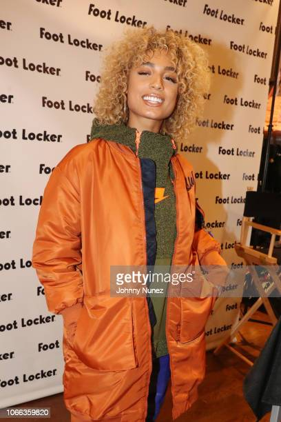 Recording Artist DaniLeigh Appears at Lady's Foot Locker on November 28 2018 in New York City