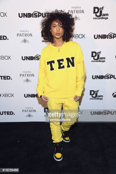Recording artist DaniLeigh attends the Def Jam Celebrates NBA All Star Weekend at Milk Studios in Hollywood With Performances by 2 Chainz Fabolous...