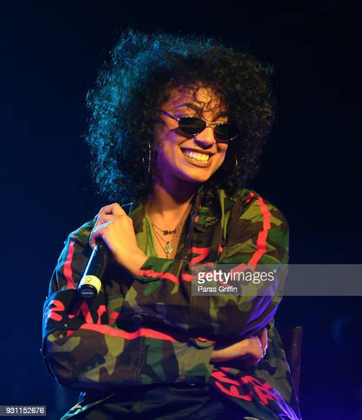 Recording artist DaniLeigh onstage at V103 presents Exclusive Listening Party With Def Jam's Dani Leigh at Vinyl Center Stage on March 12 2018 in...