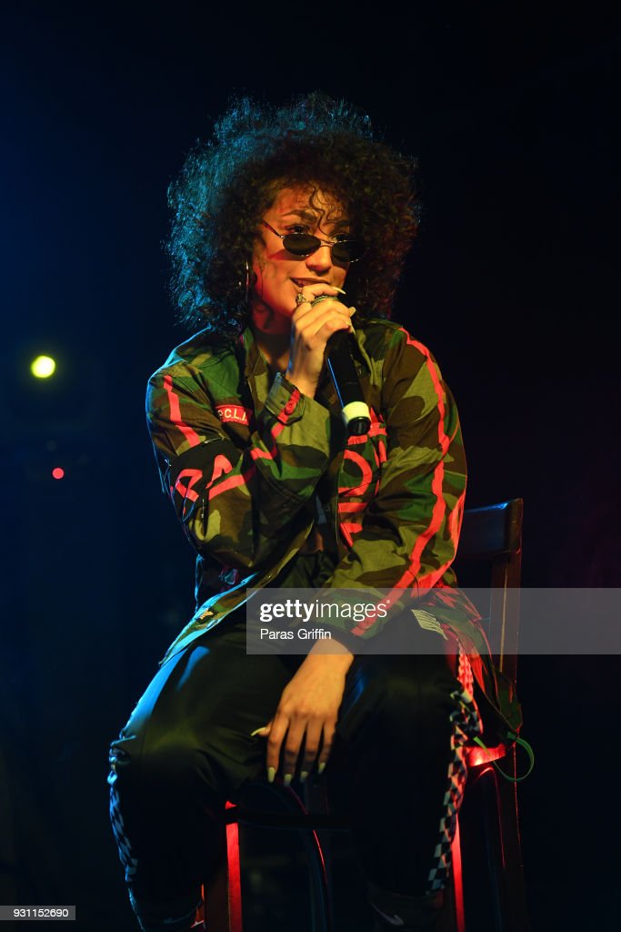 Recording artist DaniLeigh onstage at V-103 presents Exclusive Listening Party With Def Jam's Dani Leigh at Vinyl - Center Stage on March 12, 2018 in Atlanta, Georgia.