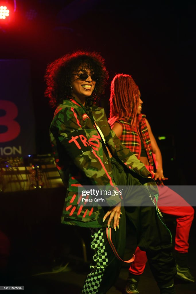 Recording artist DaniLeigh performs onstage at V-103 presents Exclusive Listening Party With Def Jam's Dani Leigh at Vinyl - Center Stage on March 12, 2018 in Atlanta, Georgia.