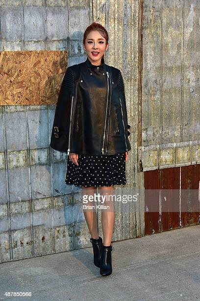 Recording artist Dara attends the Givenchy show during Spring 2016 New york Fashion Week at Pier 26 on September 11 2015 in New York City