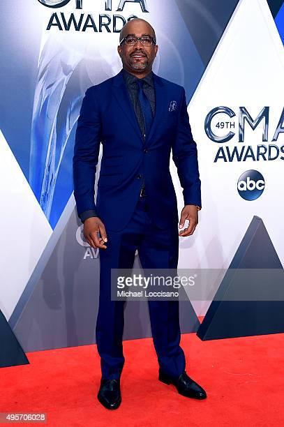 Recording artist Darius Rucker attends the 49th annual CMA Awards at the Bridgestone Arena on November 4 2015 in Nashville Tennessee