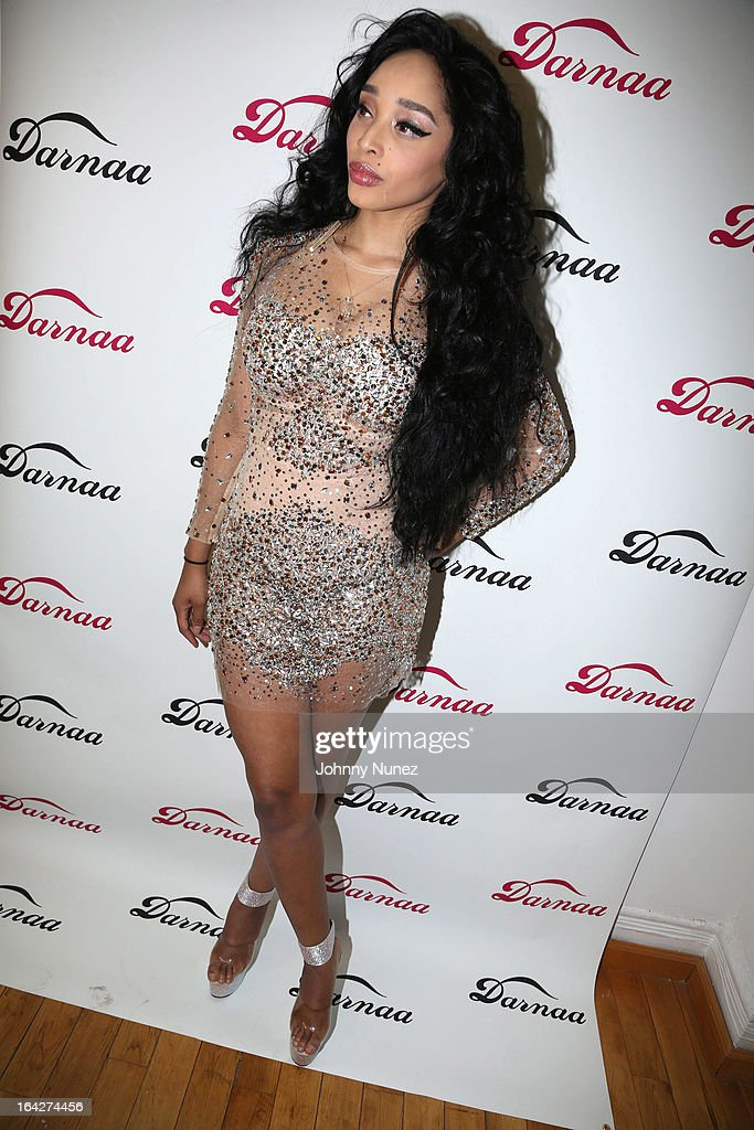 Recording artist Darnaa attends a listening event at Darnaa Recording Studios on March 21, 2013 in New York City.
