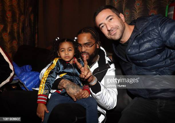 Recording artist Dave East and journalist Ari Melber backstage at Irving Plaza on January 12 2019 in New York City