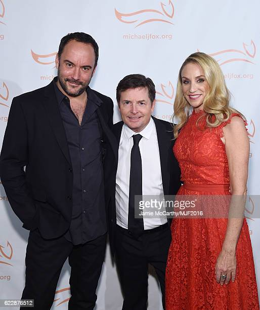 Recording artist Dave Matthews, actors Michael J. Fox and Tracy Pollan attend Michael J. Fox Foundation's 'A Funny Thing Happened On The Way To Cure...