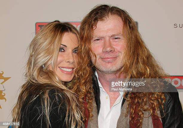 Recording Artist Dave Mustaine and his Wife Pamela Anne Casselberry attend the 10th Annual Classic Rock Awards Classic Rock Roll Of Honour Award...