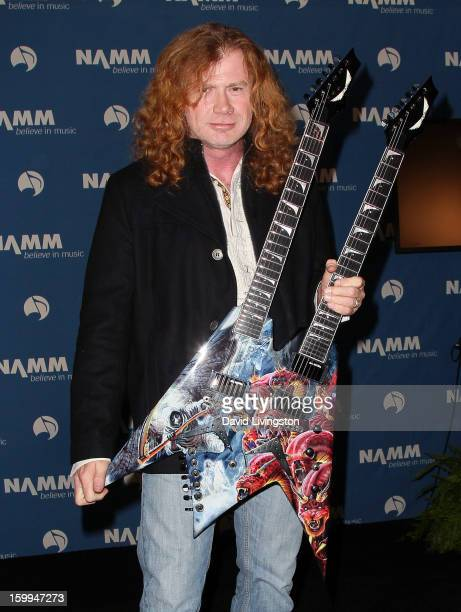 Recording artist Dave Mustaine of Megadeth attends the 2013 NAMM Show Media Preview Day at the Anaheim Convention Center on January 23 2013 in...