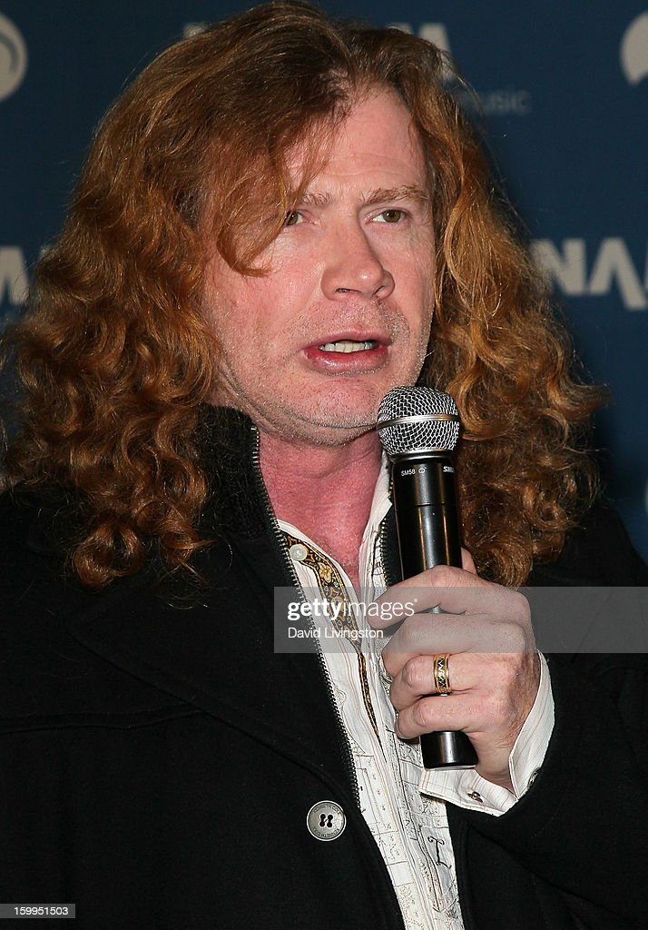 Recording artist Dave Mustaine of Megadeth attends the 2013 NAMM Show - Media Preview Day at the Anaheim Convention Center on January 23, 2013 in Anaheim, California.