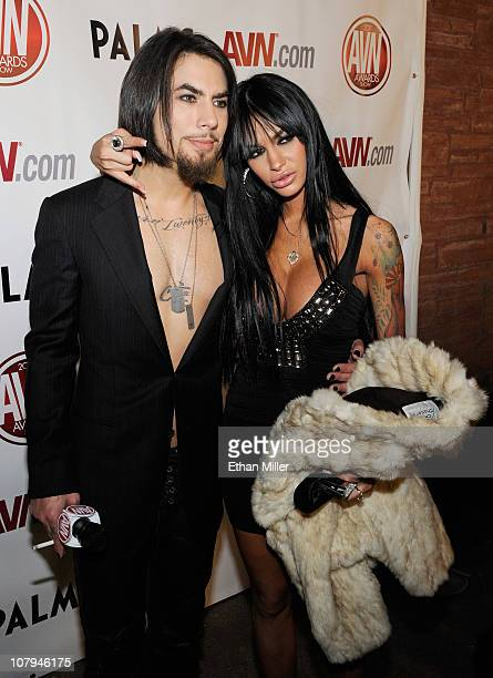 Recording artist Dave Navarro appears with adult film actress Angelina Valentine at the 28th annual Adult Video News Awards Show at the Palms Casino...