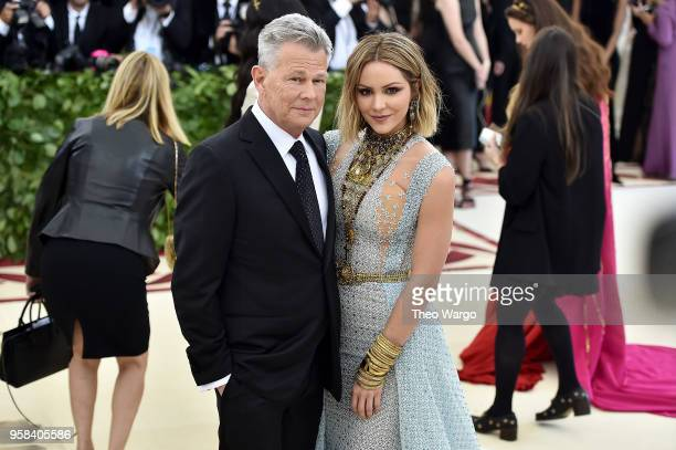 Recording artist David Foster and Katharine McPhee attend the Heavenly Bodies Fashion The Catholic Imagination Costume Institute Gala at The...
