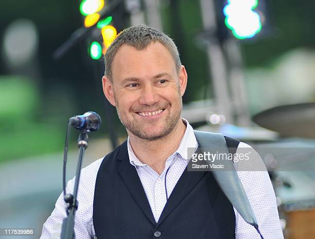 Recording artist David Gray performs at the CBS Early Show Studio Plaza on June 27 2011 in New York City