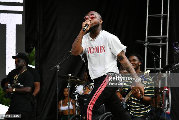 Recording artist Davido performs onstage during 2018 ONE Musicfest at Atlanta Central Park on September 8 2018 in Atlanta Georgia