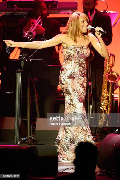 Recording artist Deborah Cox performs onstage at the 2015 BMI RB/HipHop Awards at Saban Theatre on August 28 2015 in Beverly Hills California