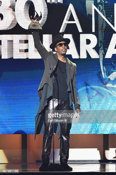 Recording artist Deitrick Haddon speaks onstage during 30th annual Stellar Gospel Music Awards at the Orleans Arena on March 28, 2015 in Las Vegas,...