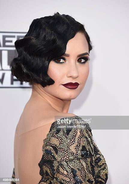 Recording artist Demi Lovato attends the 2015 American Music Awards at Microsoft Theater on November 22 2015 in Los Angeles California