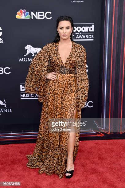 Recording artist Demi Lovato attends the 2018 Billboard Music Awards at MGM Grand Garden Arena on May 20 2018 in Las Vegas Nevada