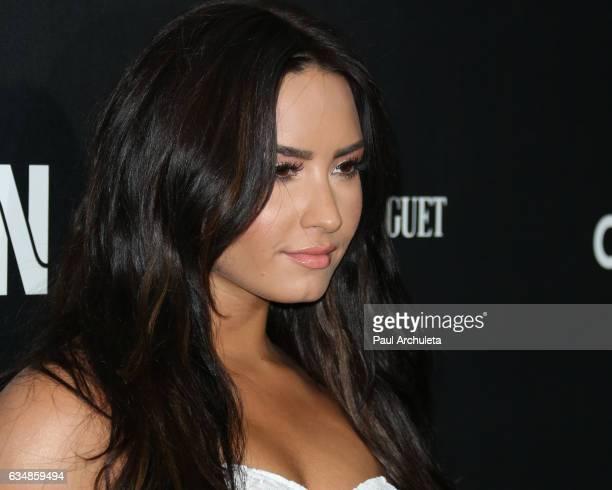 Recording Artist Demi Lovato attnds the Roc Nation preGRAMMY Brunch on February 11 2017 in Los Angeles California