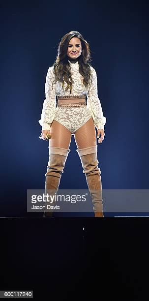 Recording Artist Demi Lovato performs during the Future Now Tour at Bridgestone Arena on September 7 2016 in Nashville Tennessee