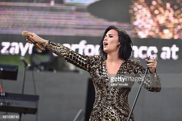 Recording artist Demi Lovato performs on stage during 1027 KIIS FM's 2016 Wango Tango at StubHub Center on May 14 2016 in Carson California