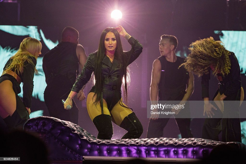 Recording Artist Demi Lovato Performs On Stage During Her Tell Me You Love Me