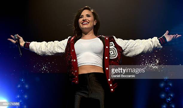 Recording artist Demi Lovato performs onstage at 1013 KDWB's Jingle Ball 2014 presented by Sky Zone Indoor Trampoline Park and Allstate at Xcel...