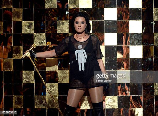 Recording artist Demi Lovato performs onstage during the 2016 Billboard Music Awards at TMobile Arena on May 22 2016 in Las Vegas Nevada