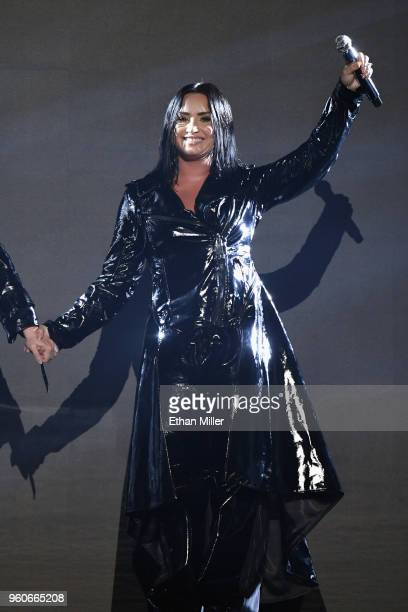 Recording artist Demi Lovato performs onstage during the 2018 Billboard Music Awards at MGM Grand Garden Arena on May 20 2018 in Las Vegas Nevada