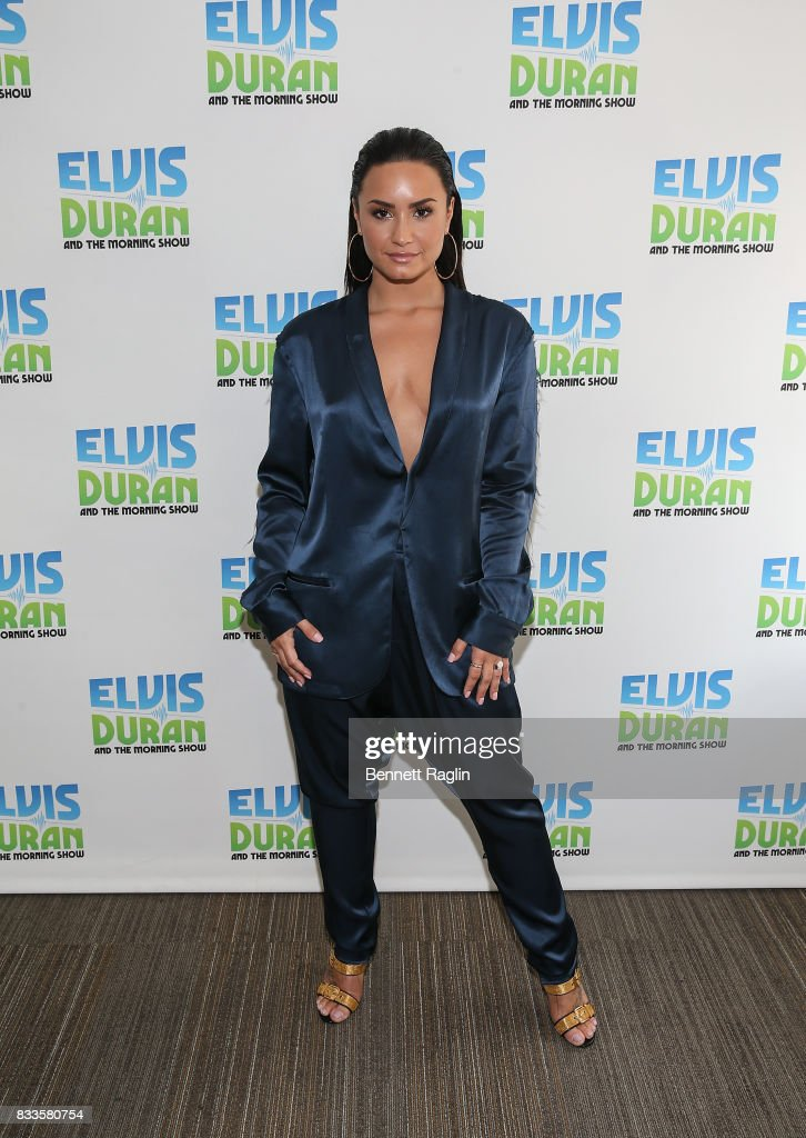 Recording artist Demi Lovato poses for a picture during the 'The Elvis Duran Z100 Morning Show' at Z100 Studio on August 17, 2017 in New York City.