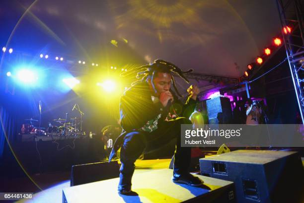 Recording artist Denzel Curry performs onstage at the Mass Appeal music showcase during 2017 SXSW Conference and Festivals at Stubbs on March 16 2017...