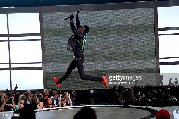 Recording artist Desiigner performs onstage during the 2016 BET Awards at the Microsoft Theater on June 26 2016 in Los Angeles California